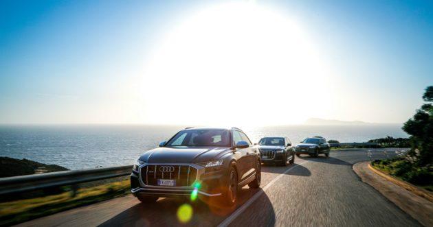 Audi, con la gamma Q in Sardegna tra fari, saline e fenicott