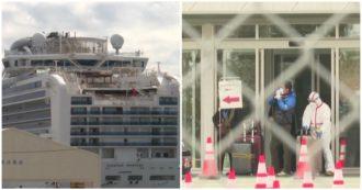 Coronavirus, i primi passeggeri lasciano la nave Diamond Princess dopo 14 giorni di quarantena: le immagini
