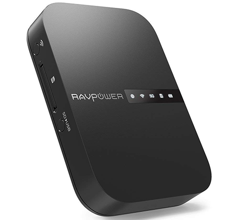 RAVPOWER FileHub, router e ripetitore WiFi portatile, hard d