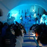 L'interno dell'Ice Dome durante il concerto di inaugurazione