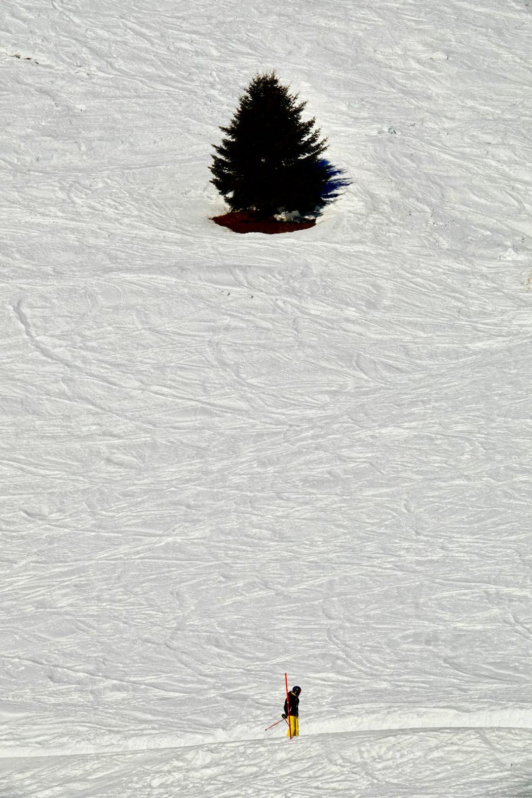Sciatore al Tonale.