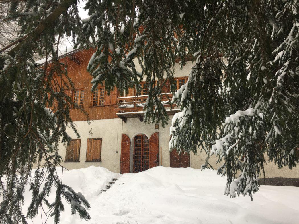 """Villa Marangoni, una dei primi insediamenti dei """"forestieri""""."""