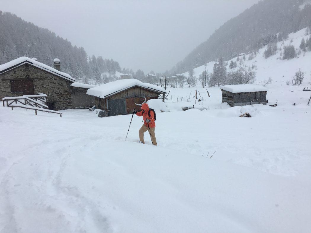 Nevicata nella Valle delle Messi.