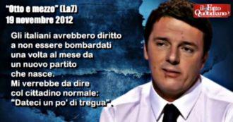 """Renzi, quando diceva """"basta ai partitini dei veti"""". Così è cambiato il rottamatore: tutte le dichiarazioni dal 2012 al 2017"""