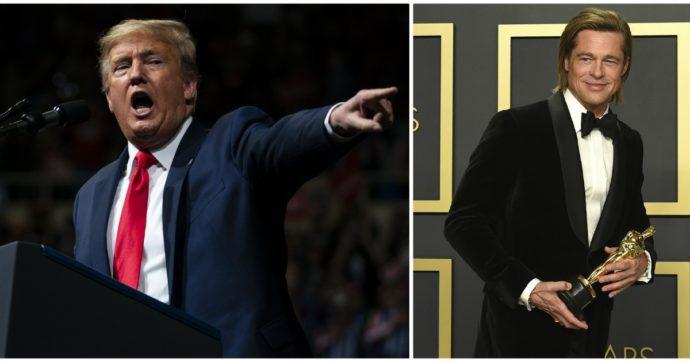 """Donald Trump contro l'Oscar a """"Parasite"""": """"Ridateci Via col vento"""". Poi attacca il """"saputello"""" Brad Pitt"""