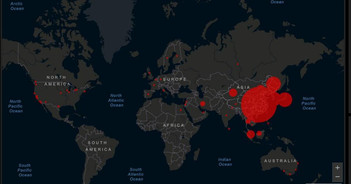 mappa contagio mondo