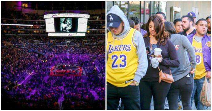 Kobe Bryant, in 20mila allo Staples Center per l'ultimo saluto alla stella dei Lakers e sua figlia