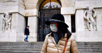 Coronavirus, Borse ancora in rosso: Milano chiude a -3,6%. Lo spread supera i 170 punti