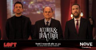 """Accordi&Disaccordi (Nove), Pier Luigi Bersani: """"L'ipotesi di governissimo nella testa di Salvini è da commedia dell'arte"""""""