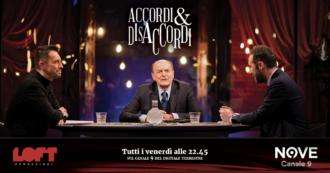 """Accordi&Disaccordi (Nove), Pier Luigi Bersani: """"Una fusione tra Cinque stelle e Pd? No, un campo di alleanza e convergenza"""""""