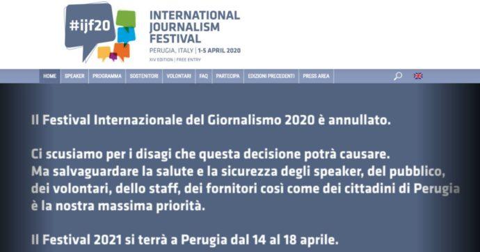 """Coronavirus, gli organizzatori annullano il Festival internazionale del giornalismo: """"Priorità è salvaguardare la salute"""""""