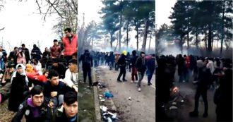 Grecia, polizia respinge migliaia di migranti al confine con la Turchia: usati gas lacrimogeni e granate stordenti