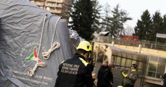 Coronavirus, da Mantova a Roma, tende montate davanti agli ospedali: triage separato per i casi sospetti