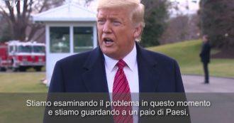 """Coronavirus, Trump: """"Stiamo valutando lo stop agli arrivi negli Stati Uniti da alcuni Paesi che hanno un numero sproporzionato di contagi"""""""