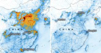 Coronavirus, le mappe della Nasa prima e dopo l'epidemia: enorme declino dei livelli di inquinamento