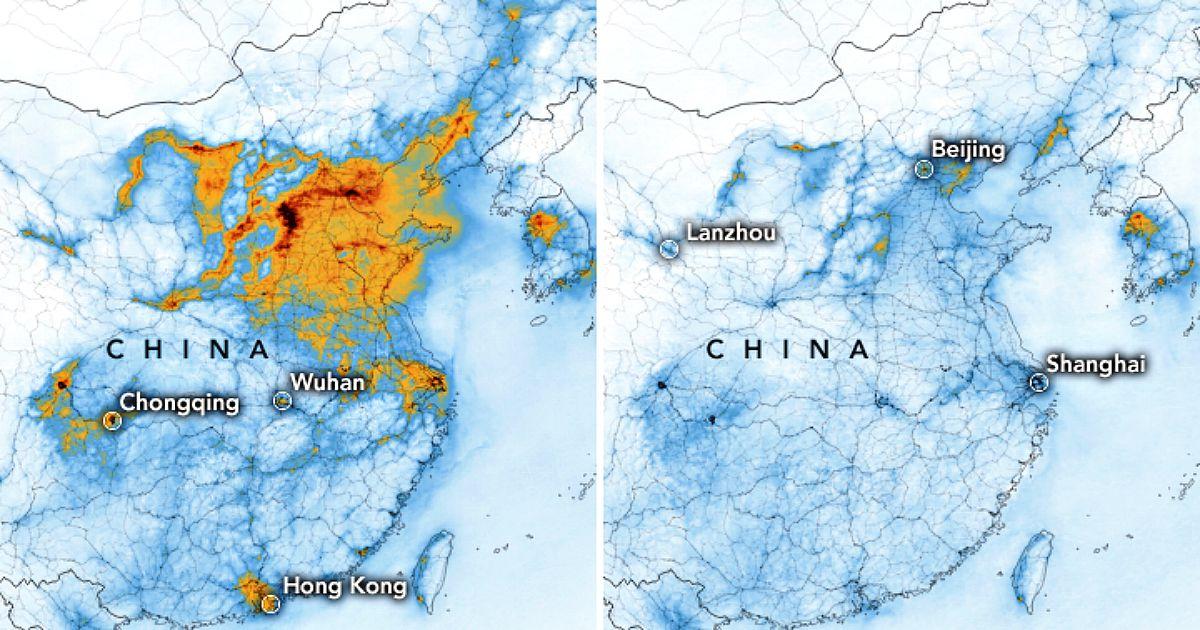 Cartina Satellitare Lombardia.Coronavirus Le Mappe Della Nasa Prima E Dopo L Epidemia Enorme Declino Dei Livelli Di Inquinamento Il Fatto Quotidiano