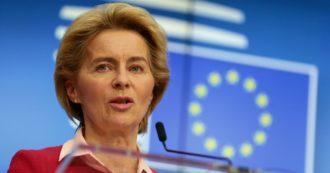 """Coronavirus, Von der Leyen: """"L'Unione ne uscirà più forte: la famiglia europea è preziosa. L'Italia potrà usare tutti i soldi necessari"""""""