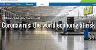 """Coronavirus, Ocse: """"Minaccia senza precedenti per l'economia. Crescita mondiale 2020 a +2,4% se epidemia resta contenuta, se si allarga solo +1,5%. Italia ferma"""""""