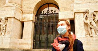 """Coronavirus, Borse Ue tentano la ripresa ma chiudono in rosso. Milano cede il 3,28%, dall'inizio del contagio ha perso il 30% del valore. Vola Diasorin che prepara test rapido per il virus. Upb: """"Subito Eurobond"""""""