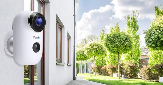 Ctronics, telecamera di videosorveglianza wireless a batteria, in offerta su Amazon con sconto del 40%