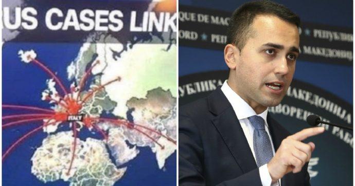 """Coronavirus, la Cnn pubblica una mappa in cui l'Italia è il principale focolaio del mondo. Di Maio: """"Visione distorta della realtà"""""""