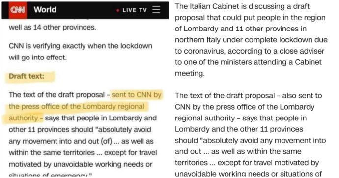 """Coronavirus, la fuga di notizie sul decreto. Cnn: """"Bozza ricevuta dall'ufficio stampa della Regione Lombardia"""". Che smentisce: """"Falso"""""""