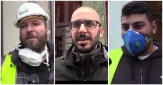 """Coronavirus, gli operai al lavoro a Milano: """"Dovremmo stare tutti a casa. Noi sacrificabili?"""""""