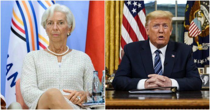 Christine Lagarde e Donald Trump, la coppia micidiale che in un giorno ha fatto fuori l'economia