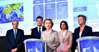 """Coronavirus, la Ue: """"All'Italia tutto quello di cui ha bisogno. È probabile una recessione europea, sospenderemo i vincoli bilancio"""""""