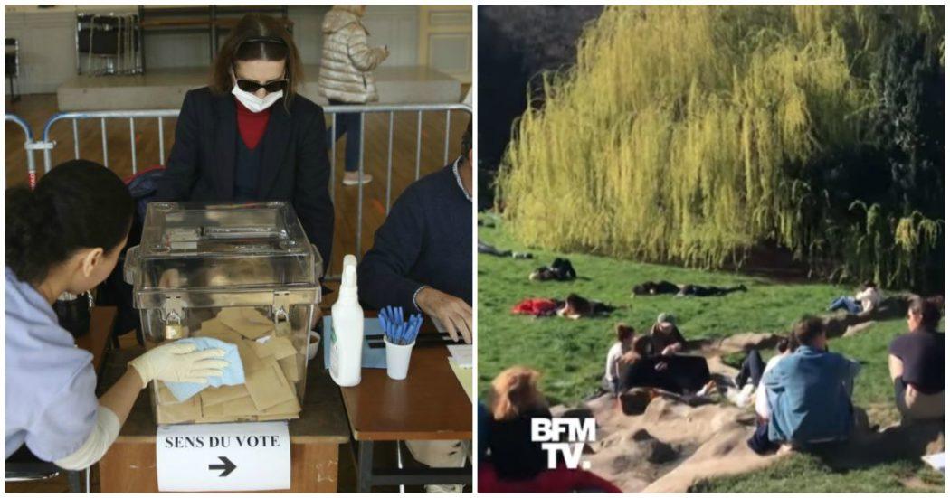 Coronavirus, in Francia astensione record alle urne e parchi pieni: dopo la schizofrenia del weekend Macron costretto a misure più rigide