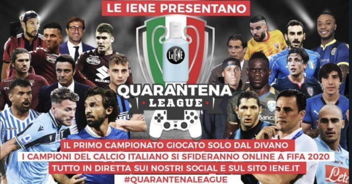 Quarantena League, il grande torneo di Fifa 20 con il commento di Pardo e la Gialappàs: a giocare anche Pirlo, Balotelli, Materazzi, Immobile e Cannavaro
