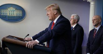 """Coronavirus, Trump: """"Cina non ha condiviso subito informazioni, il mondo lo pagherà caro"""". Cancellato il G7 di giugno a Camp David"""