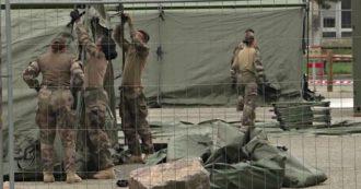 Coronavirus, in Francia militari al lavoro per realizzare ospedale da campo dedicato a pazienti positivi al virus