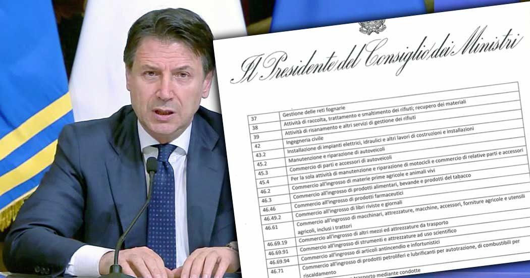 Coronavirus, Conte ha firmato il decreto che ferma la produzione. Ecco le 80 attività 'essenziali'. Deroghe anche per aerospazio e difesa