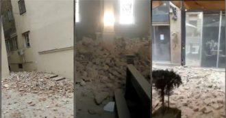 Terremoto Croazia, le immagini da Zagabria: macerie e gente in strada. Crollano anche i soffitti delle chiese