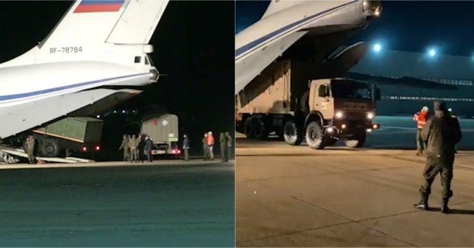 Coronavirus: dopo Cina e Cuba, arrivati i primi aiuti anche dalla Russia. In tutto nove aerei con uomini e materiale sanitario