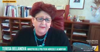 """Coronavirus, la ministra Bellanova ai sindacati su La7: """"Non è il momento per programmare scioperi. Non assecondiamo l'onda"""""""