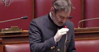 """Coronavirus, il deputato bergamasco Belotti (Lega) piange in Aula: """"Terra duramente provata. Feriti ma non ci fermeremo"""""""