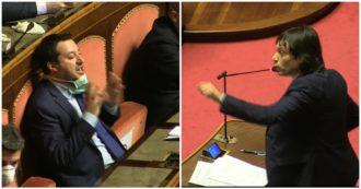"""Coronavirus, Perilli (M5s) a Salvini: """"Monumento all'incoerenza, lei voleva tutto aperto"""". Bagarre in Senato. Casellati: """"Basta urlare"""""""