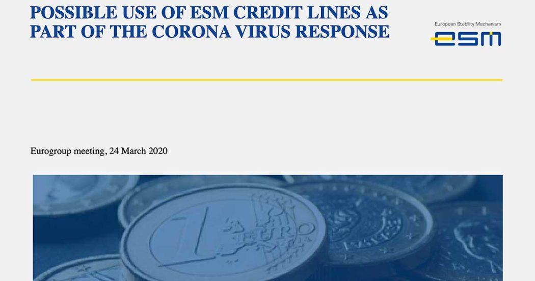 Consiglio europeo, ecco il documento riservato sul tavolo dei leader: niente coronabond, linee di credito del Mes con le condizionalità