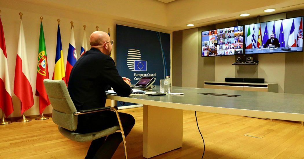 """Consiglio europeo, dopo sei ore l'intesa è su un rinvio di 2 settimane. Conte durante trattativa: """"Strumenti del passato ve li potete tenere"""""""