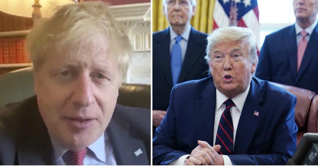 """Coronavirus, Boris Johnson positivo: """"Continuerò a lavorare"""". In Spagna quasi 5mila morti. In Usa superati i 100mila casi: primo Paese al mondo. Trump approva il piano di aiuti da 2mila miliardi di dollari"""