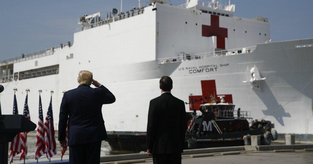 """Coronavirus, Usa: 124mila casi. Il consulente della Casa Bianca: """"Temiamo milioni di contagi e fino a 200mila morti"""". Trump convoca la stampa. Spagna, 6500 vittime. Uk, Johnson: """"Le cose andranno peggio"""""""