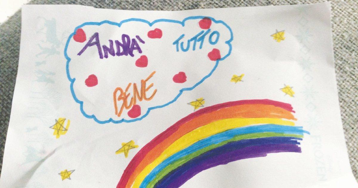 Arcobaleni nei disegni dei bimbi e gli anziani che scoprono il web