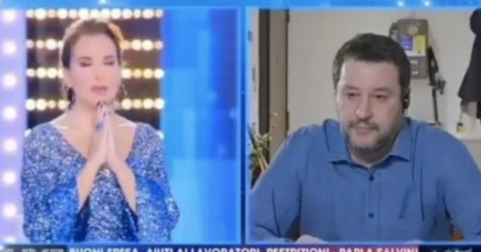 """Live non è la D'Urso, Matteo Salvini: """"Barbara dedico un Eterno riposo a coloro che ci aiutano da lassù"""". I due pregano insieme. Indignazione sui social"""