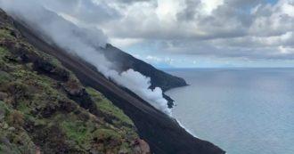 Stromboli, intensificata l'attività eruttiva del vulcano: la colata di lava arriva fino al mare