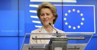 """Coronavirus, von der Leyen lancia schema europeo per i cassintegrati e sente Conte: """"L'Ue è qui per aiutare"""". Il premier: """"Passo significativo in vista di un intervento più ampio"""""""