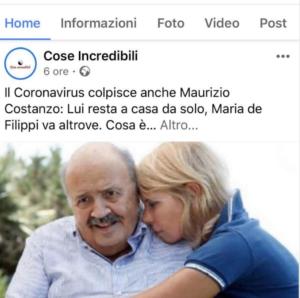 """Maurizio Costanzo ha il coronavirus"": ma è una fake news. I"