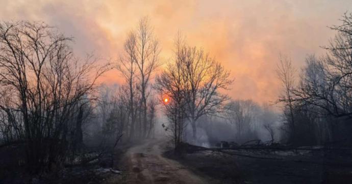 Chernobyl, incendi nella foresta intorno all'ex centrale nucleare. Aumenta la radioattività dell'area