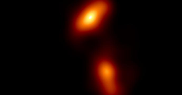 Fotografato uno dei fenomeni cosmici più potenti: un getto di plasma emesso da un buco nero